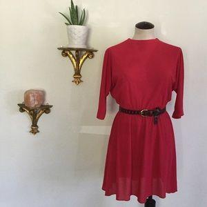 Vintage Lipstick Dress